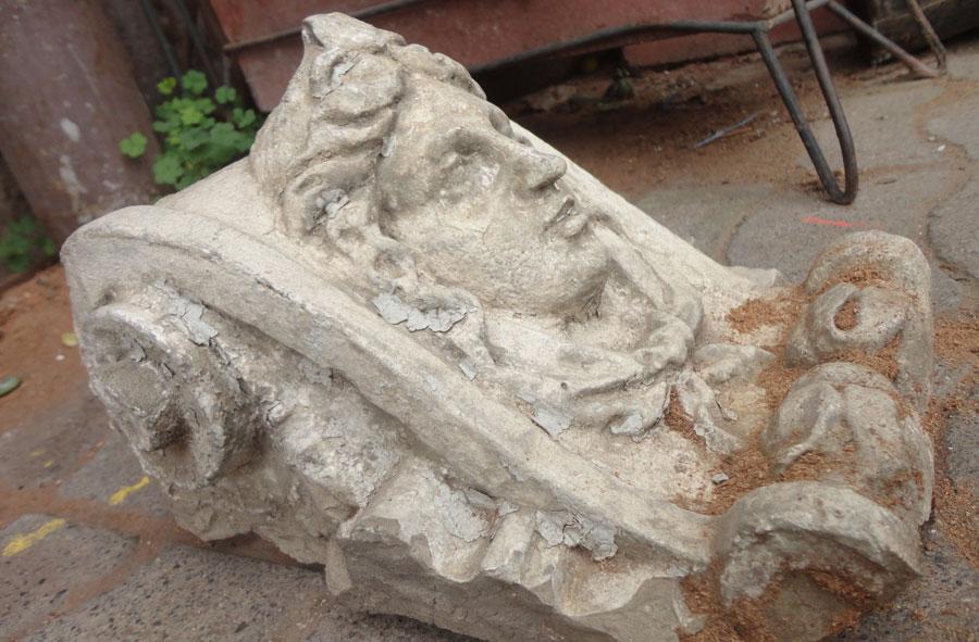 Escultura en piedra.