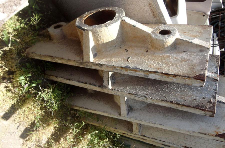 Estructura base para Pilares de fierro macizo.