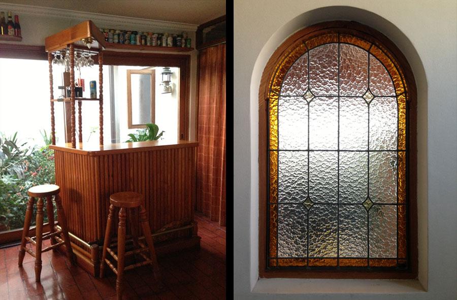 Productos a pedido: Set de Bar y pisos, de Pino oregón americano. Marco para ventana vitreaux de Pino oregón americano.