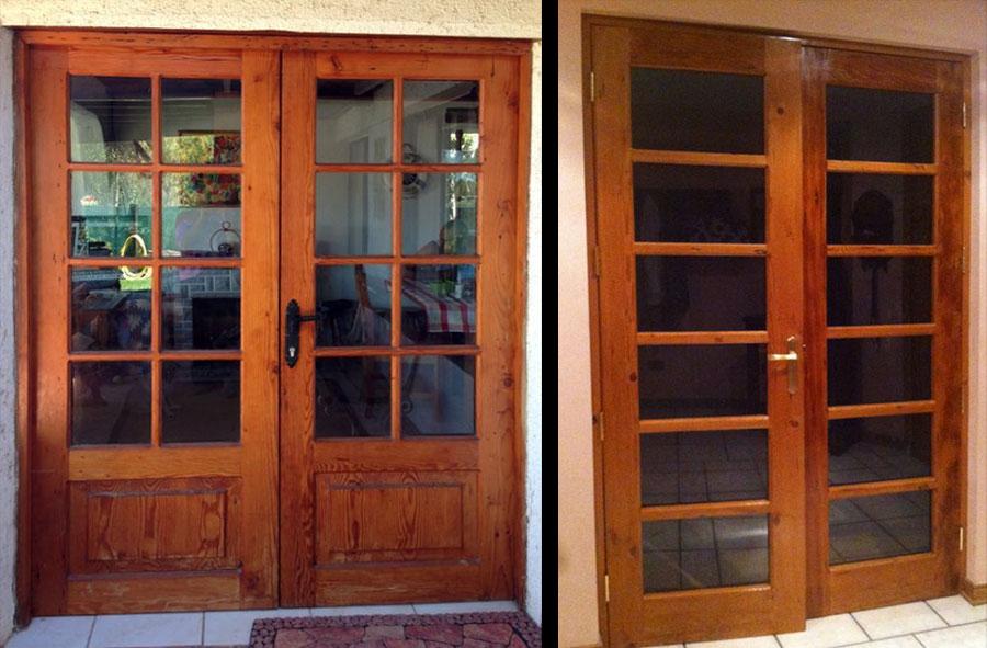 Producto a pedido: Puertas de acceso de Pino oregón americano y Roble.