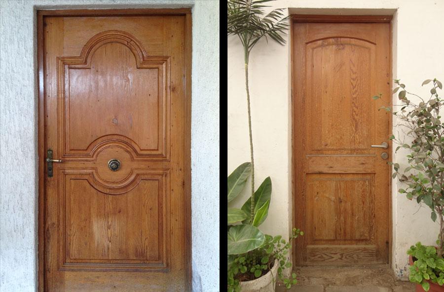 Producto a pedido: Puertas de acceso de pino oregón americano.