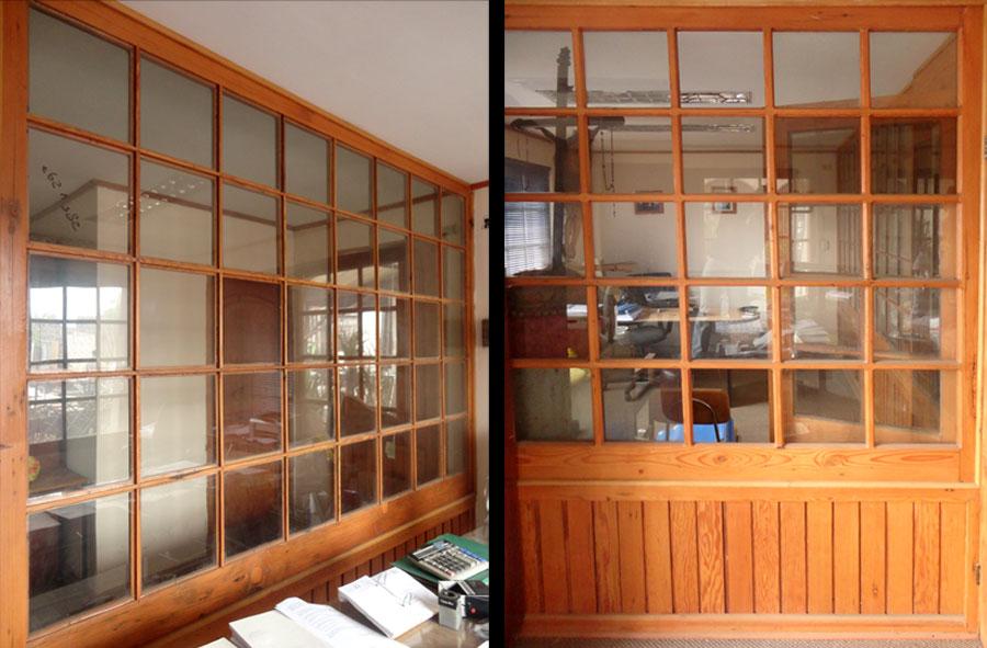 Producto a pedido: Ventanal de madera y vidrio.