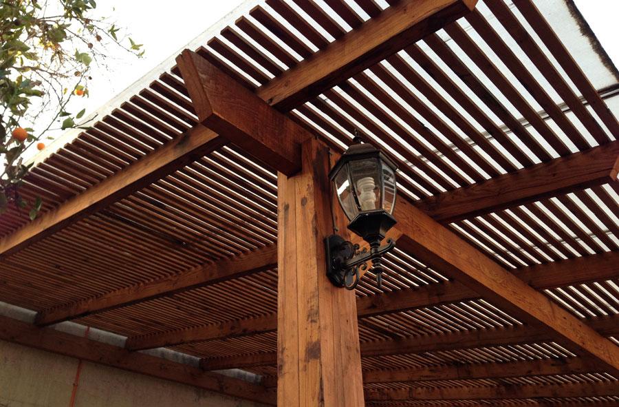 Producto a pedido: Estructura de madera de pino oregón americano.